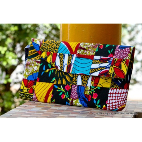 Pochette patchwork wax